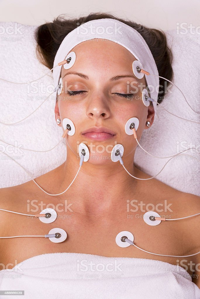 Woman at the beautician. royalty-free stock photo