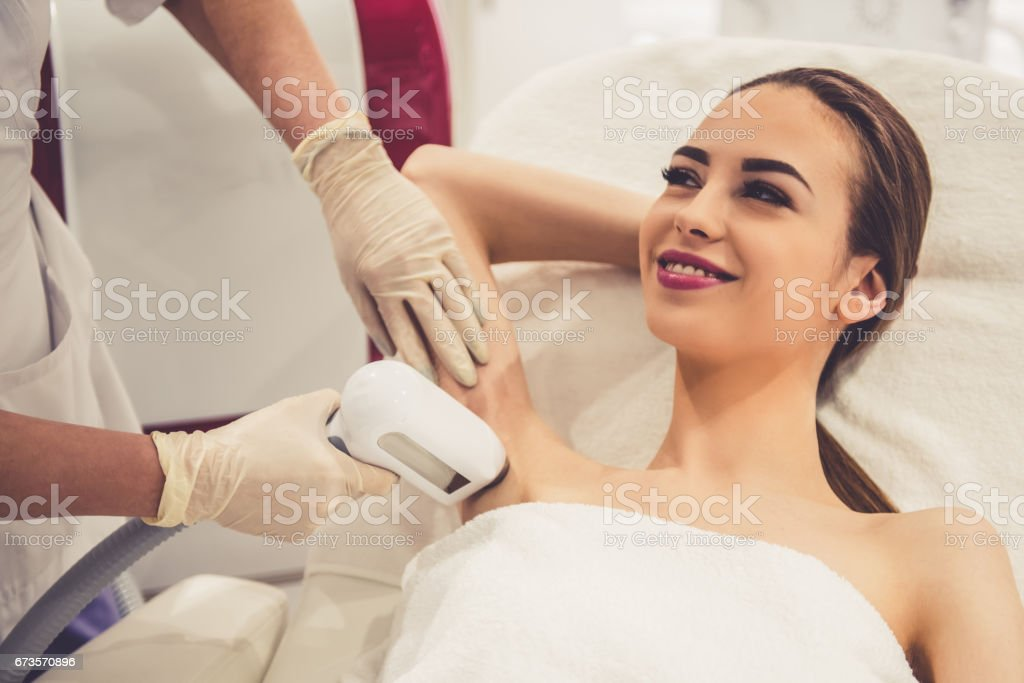 Woman at the beautician royalty-free stock photo