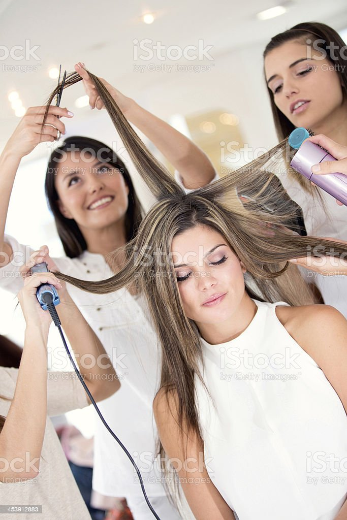 Woman at the beauty salon royalty-free stock photo