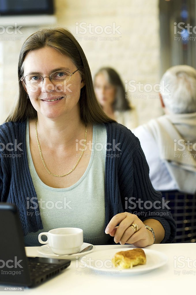 Woman at the cafe royalty-free stock photo