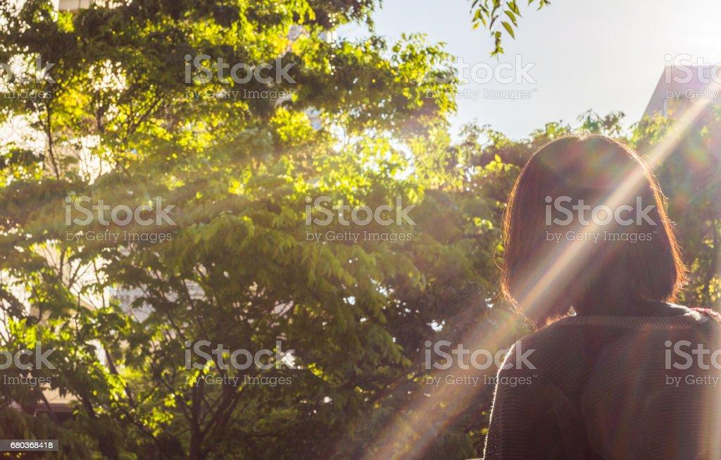 Woman at the city royalty-free stock photo