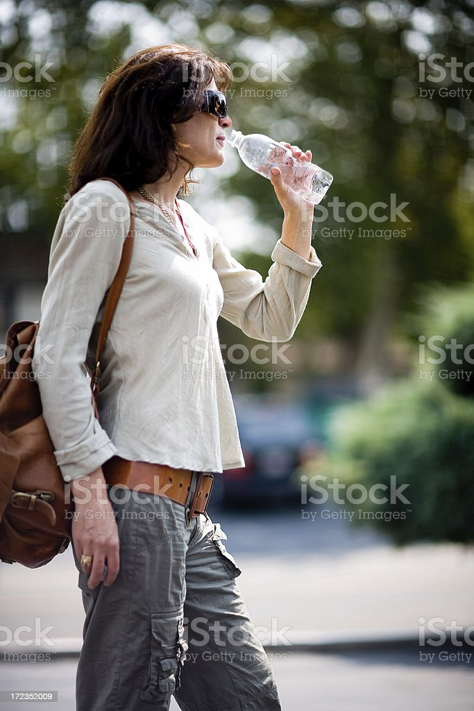 Woman At The Door royalty-free stock photo