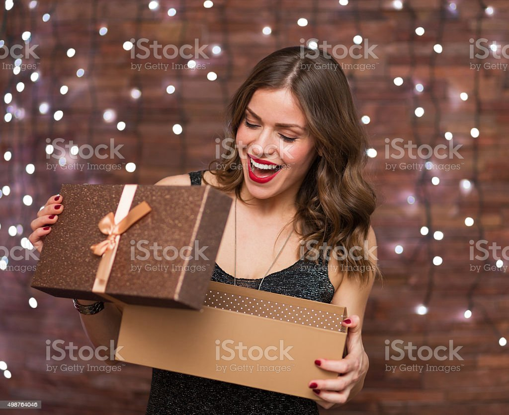 Woman at the party stock photo