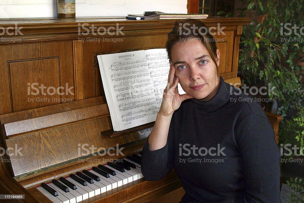 Woman at the Piano royalty-free stock photo