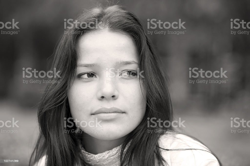 Woman at the summer park stock photo