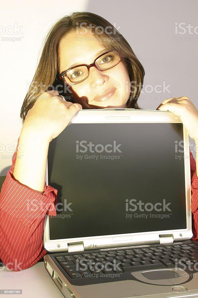 Woman at wokr #8 royalty-free stock photo