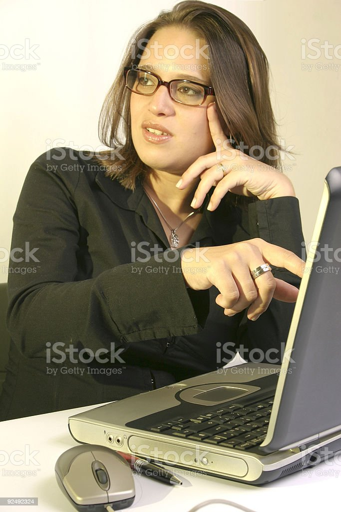 Woman at work #8 royalty-free stock photo