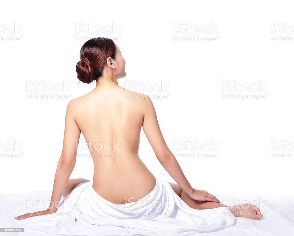 woman back view stock photo