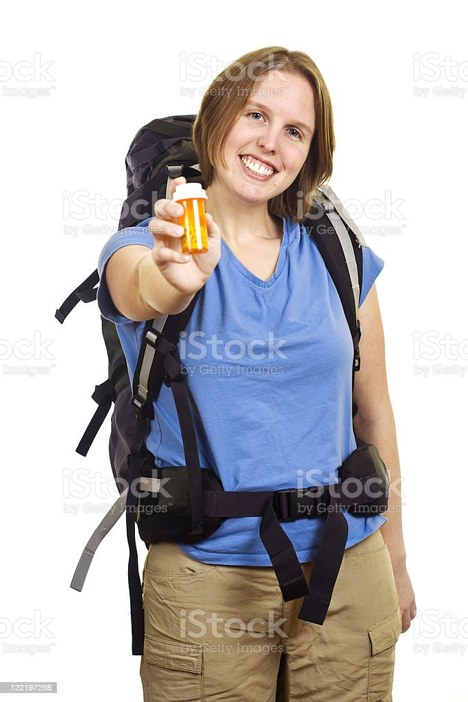 Woman Backpacker royalty-free stock photo