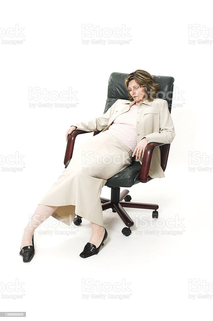 woman bad posture royalty-free stock photo