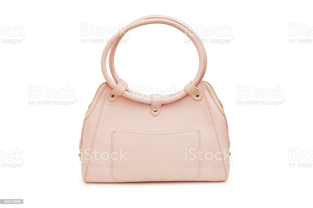 Woman bag isolated on the white background royalty-free stock photo