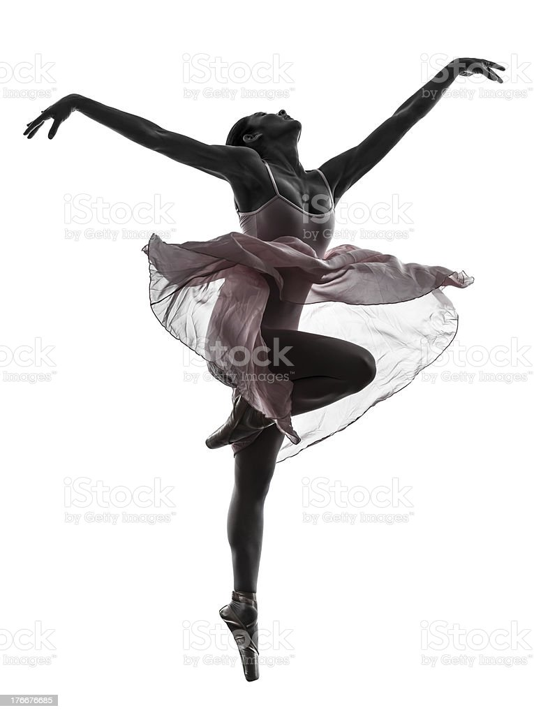 woman ballerina ballet dancer dancing silhouette royalty-free stock photo