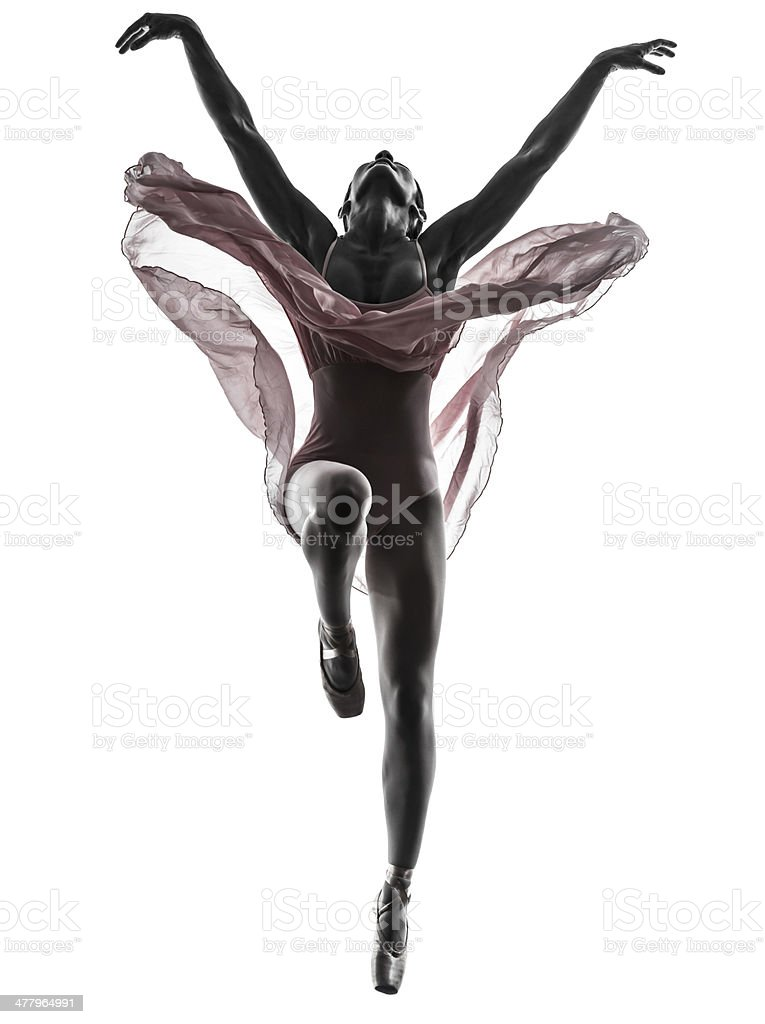 woman ballerina ballet dancer dancing silhouette stock photo