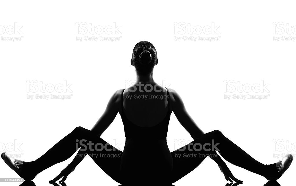 woman ballet dancer ballerina royalty-free stock photo