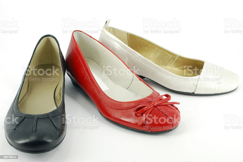 Donna Ballerina shoes foto stock royalty-free