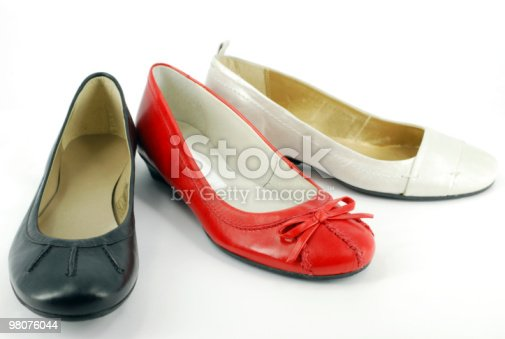 Woman Ballet Flat Shoes Stock Photo & More Pictures of Black Color