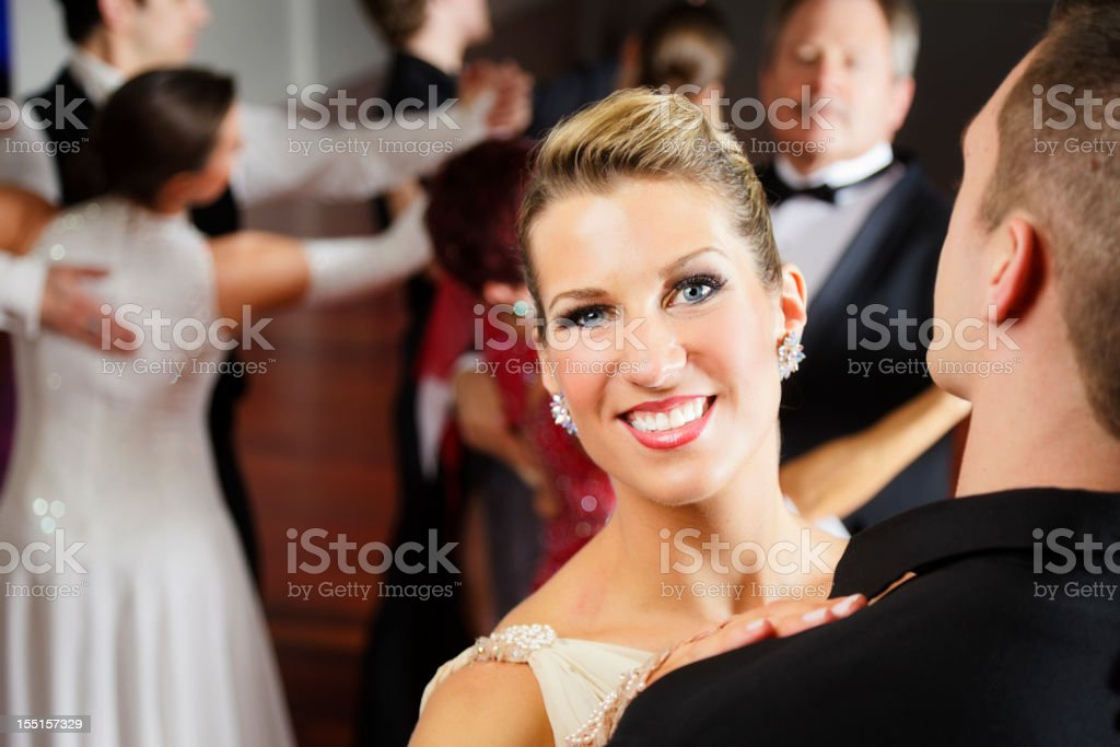 Woman Ballroom Dancing stock photo