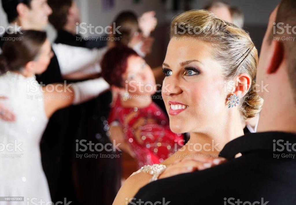 Woman Ballroom Dancing royalty-free stock photo