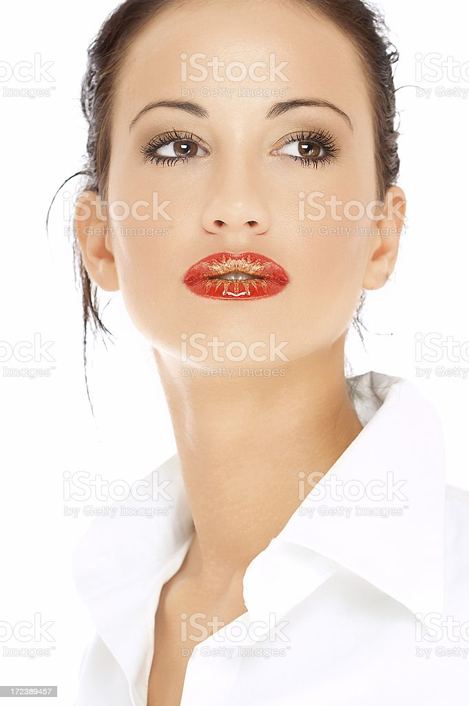 Woman beautiful and young royalty-free stock photo