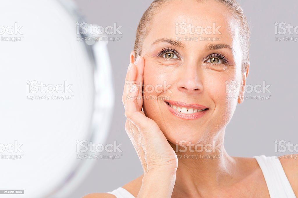 Woman, Beauty and Anti Aging. stock photo