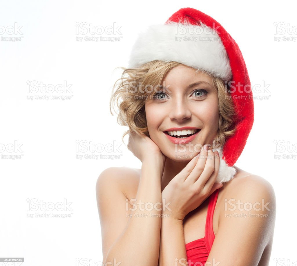 woman beauty christmas stock photo