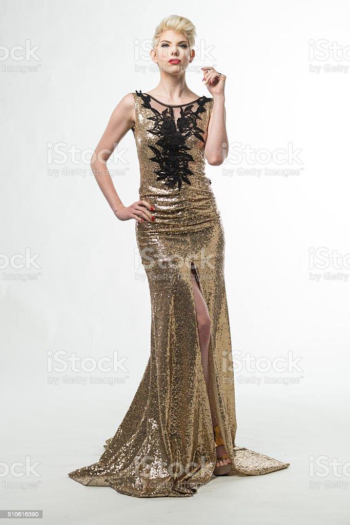 finest selection 3e6e2 eb867 Moda Donna Bellezza Lungo Abito Elegante Ragazza In Abito ...