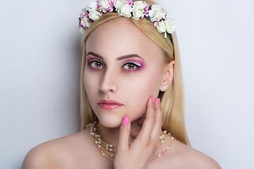 woman beauty make up