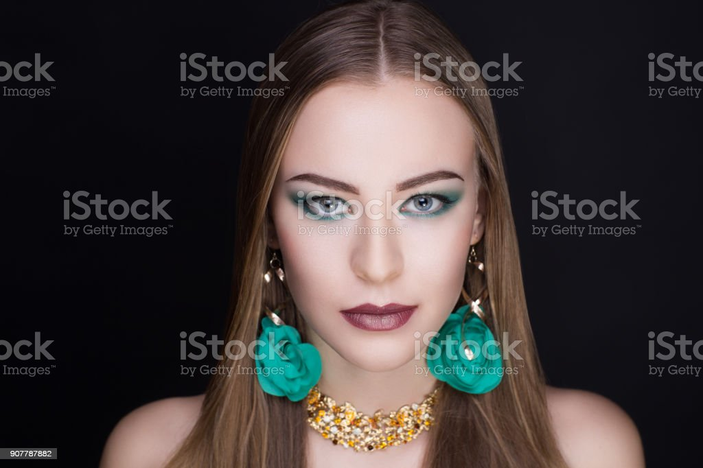 woman beauty make up stock photo