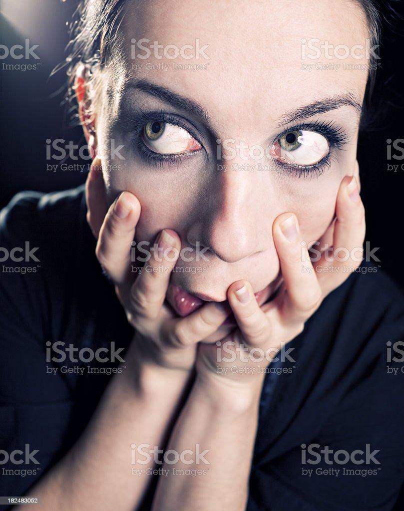 Woman Beauty Portrait Black Hair Green Eyes Stock Photo More