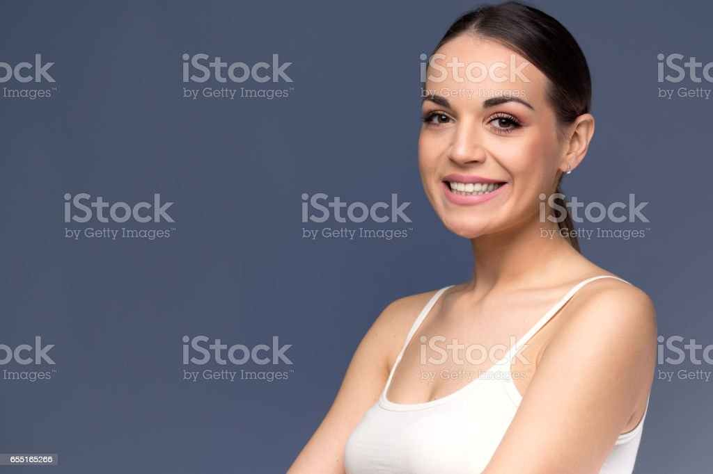 Woman before and after cosmetic procedure. Plastic surgery concept stock photo