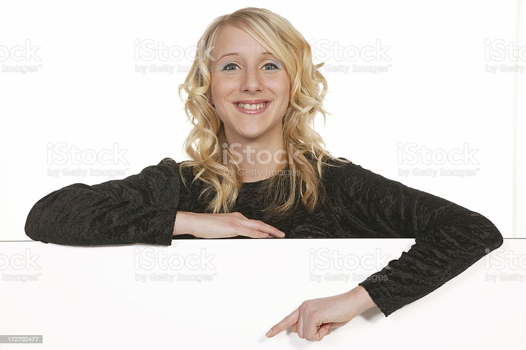 woman behind a white wall series royalty-free stock photo
