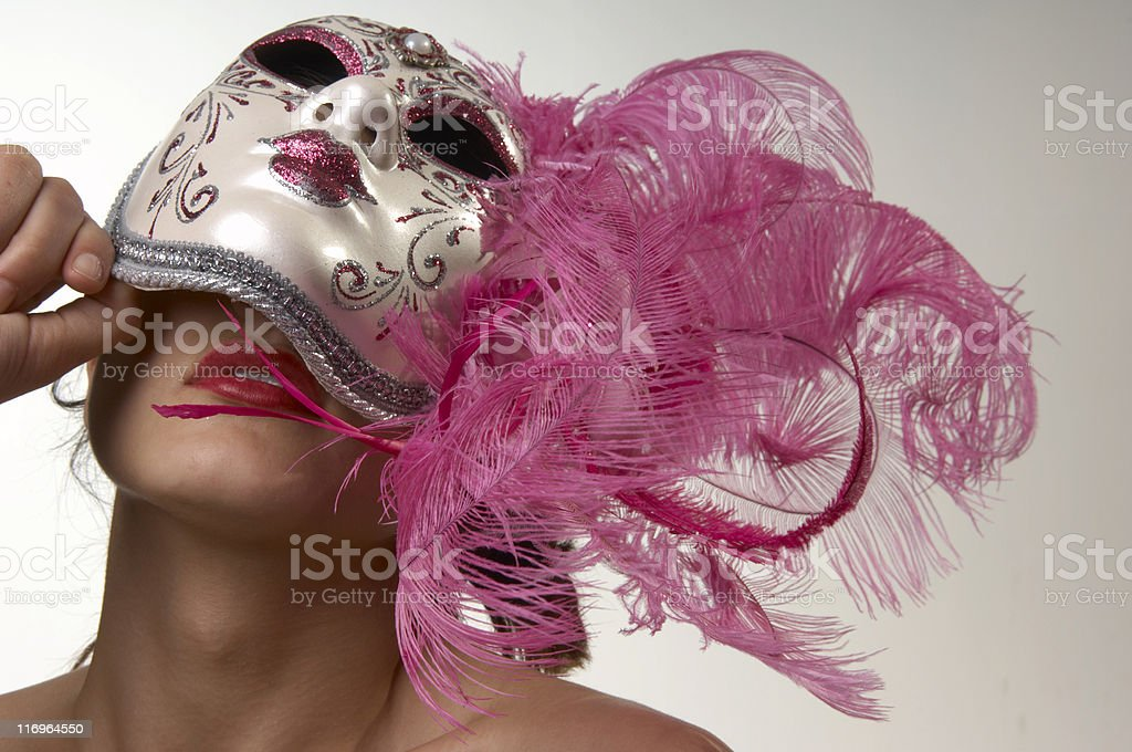 Woman Behind the Mask royalty-free stock photo