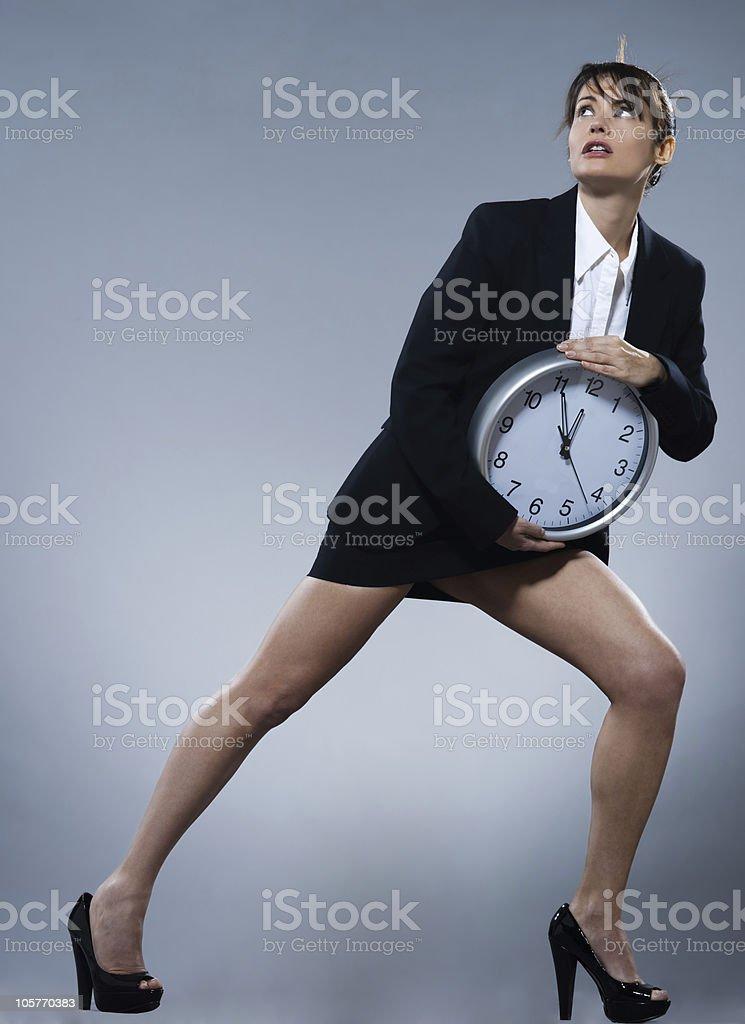 woman biological clock concept stock photo