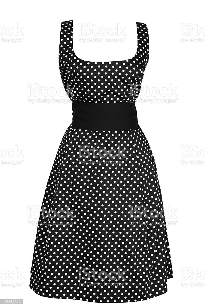 Woman black dress in white round royalty-free stock photo