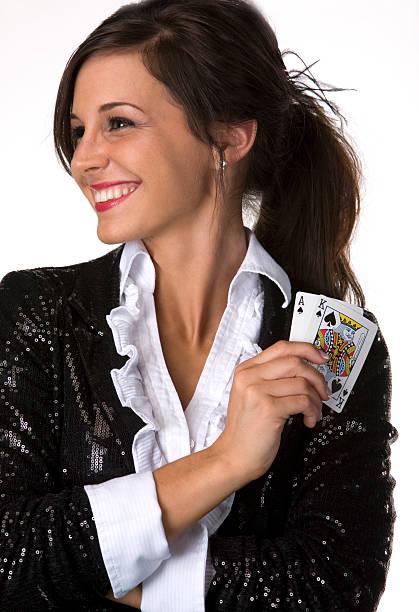 Femme blackjack revendeur - Photo