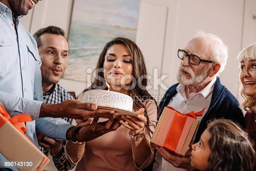 istock woman blowing candle on birthday cake 895143130