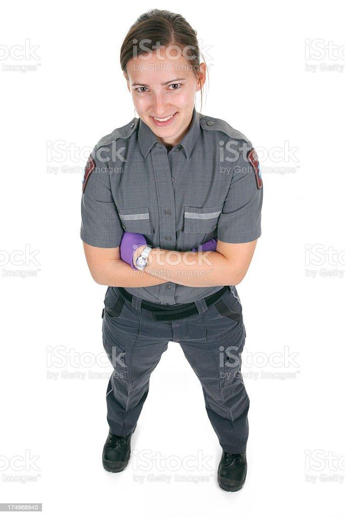 Woman Body Paramedic White Background royalty-free stock photo