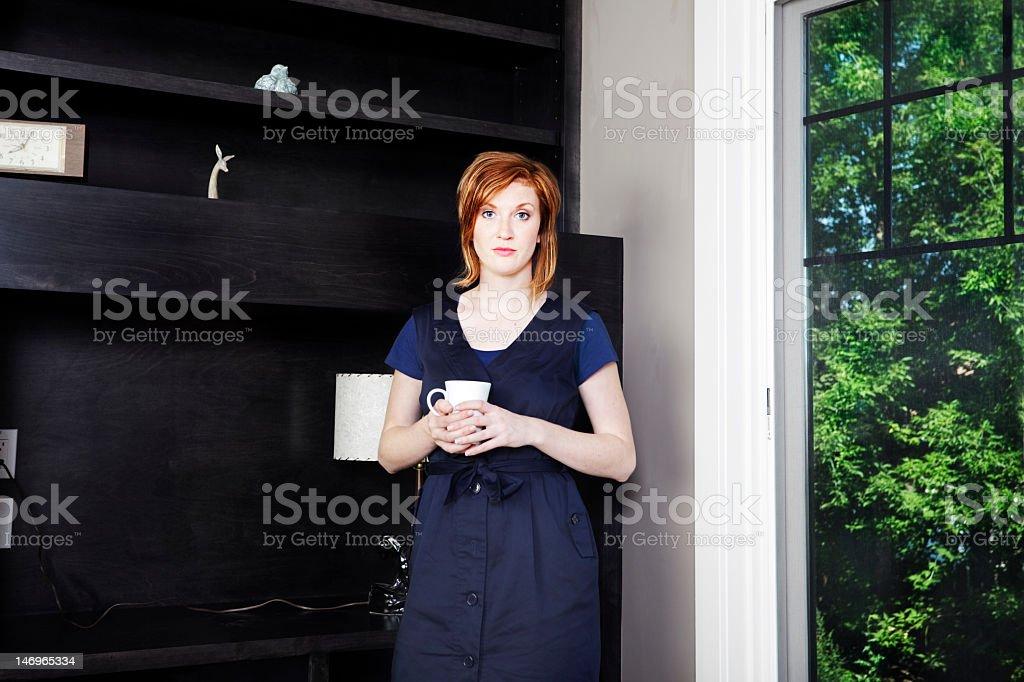 Woman bored stock photo
