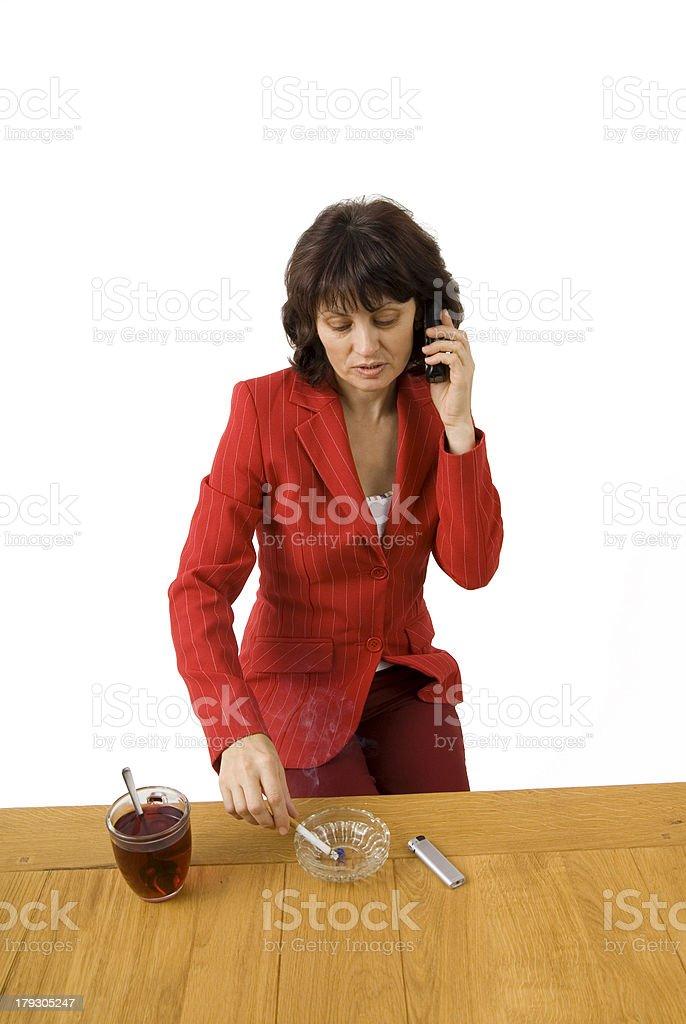 woman breakfast stock photo