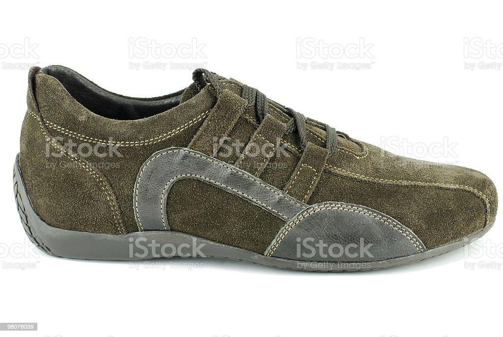 sneaker da donna marroni foto stock royalty-free