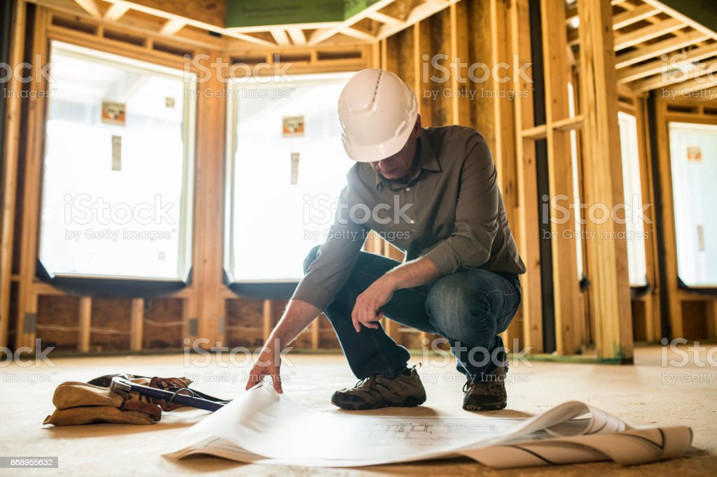 Woman Building Contractor stock photo