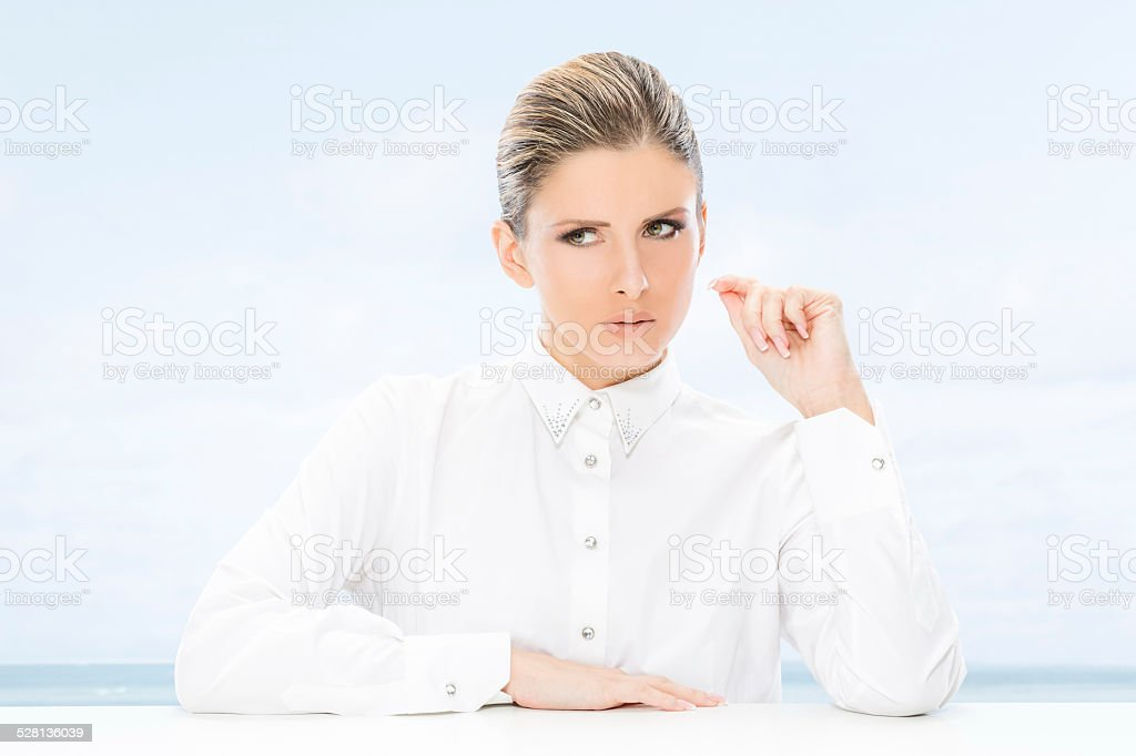 Woman, business and sucess. stock photo