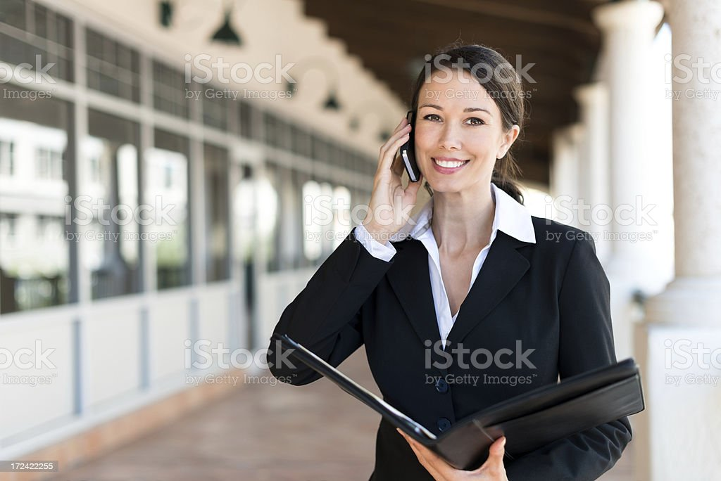 Woman Businesswoman with Mobile Phone royalty-free stock photo