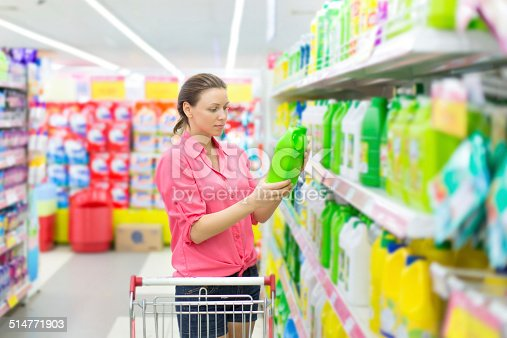 istock Woman buys washing powder 514771903