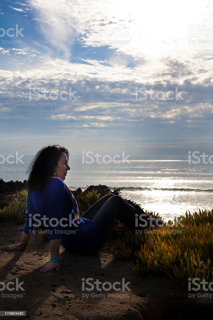 Woman by Ocean royalty-free stock photo
