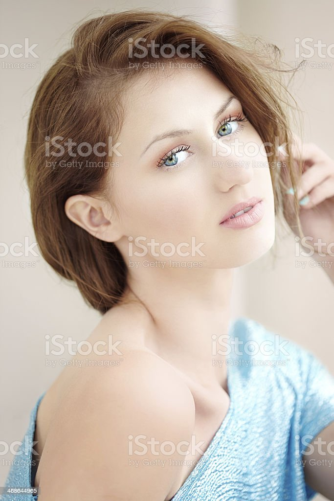 Woman By The Window royalty-free stock photo