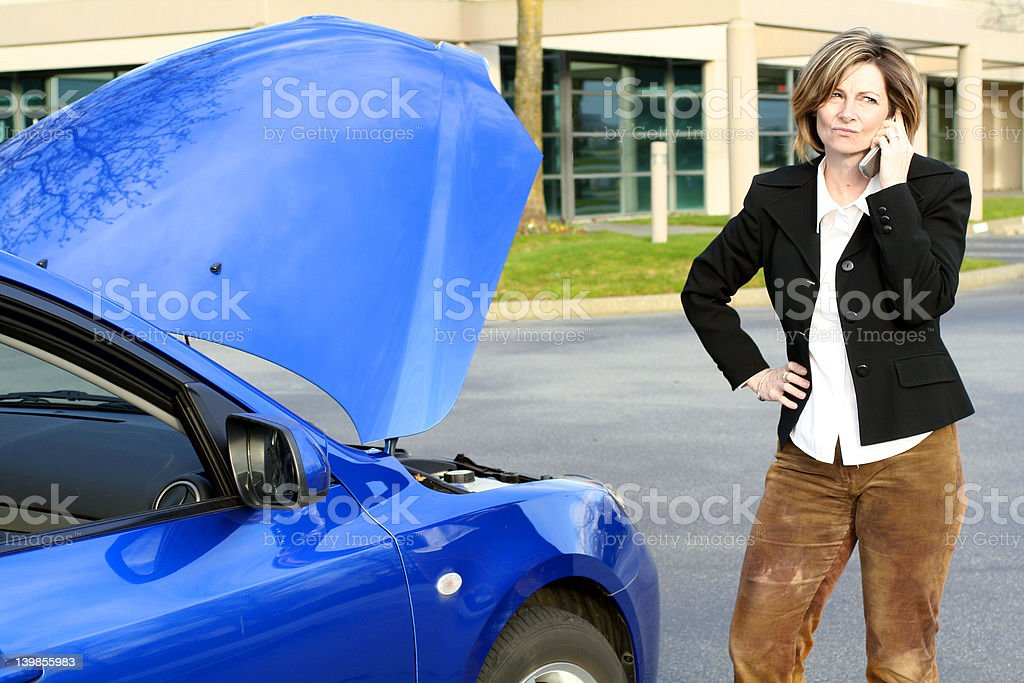 woman call for help stock photo