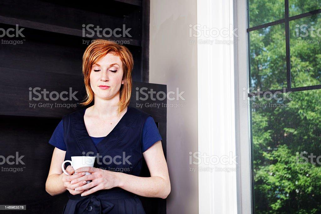 Woman calm stock photo