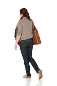 istock Woman carrying a leather bag 184598686