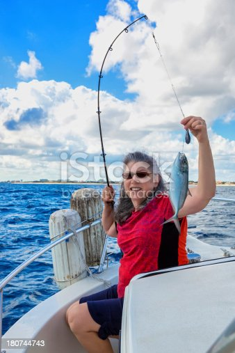 155674939istockphoto Woman catching a fish 180744743